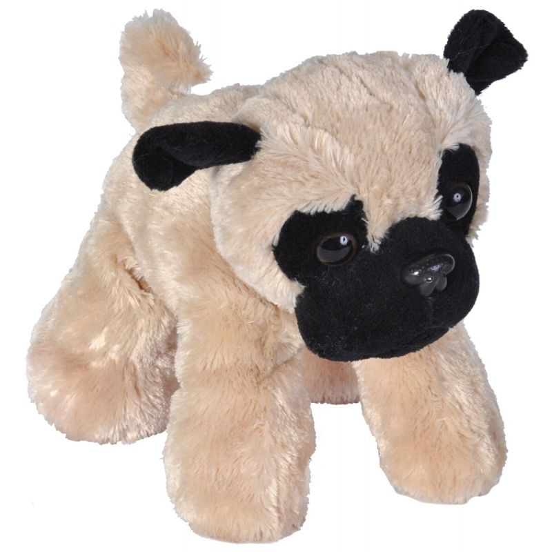 Speelgoed Mopshond knuffel pluche 18 cm
