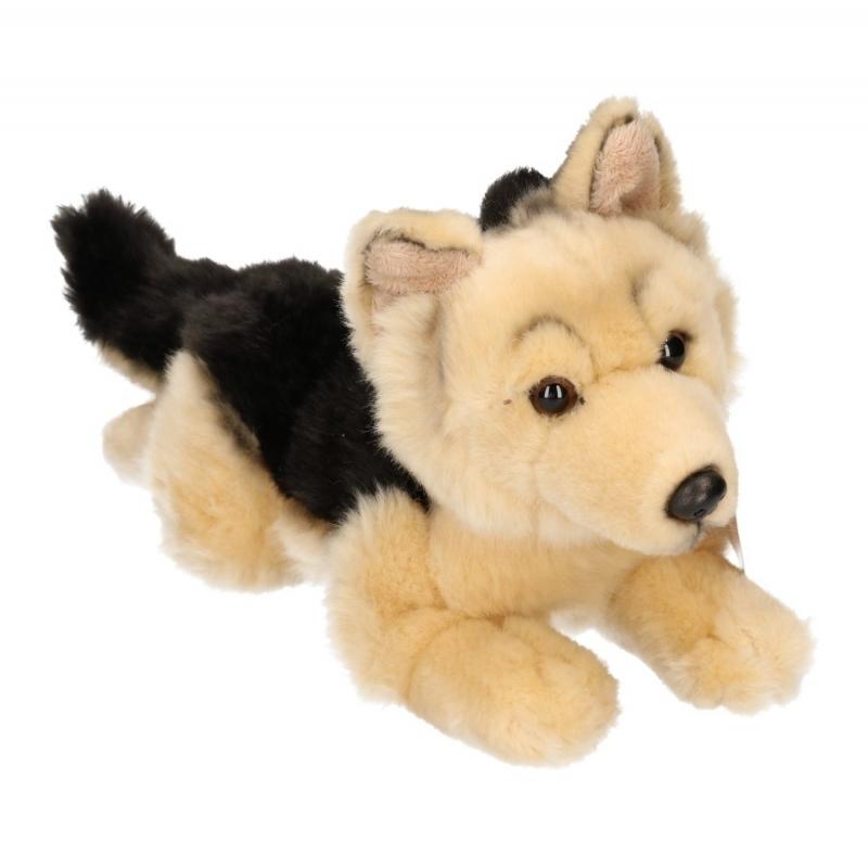 Speelgoed pluche Duitse herder beige