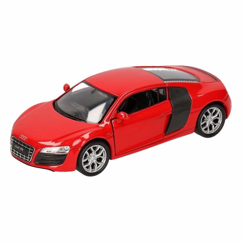 Speelgoedvoertuigen Audi Speelgoed rode Audi R8 auto 1 36