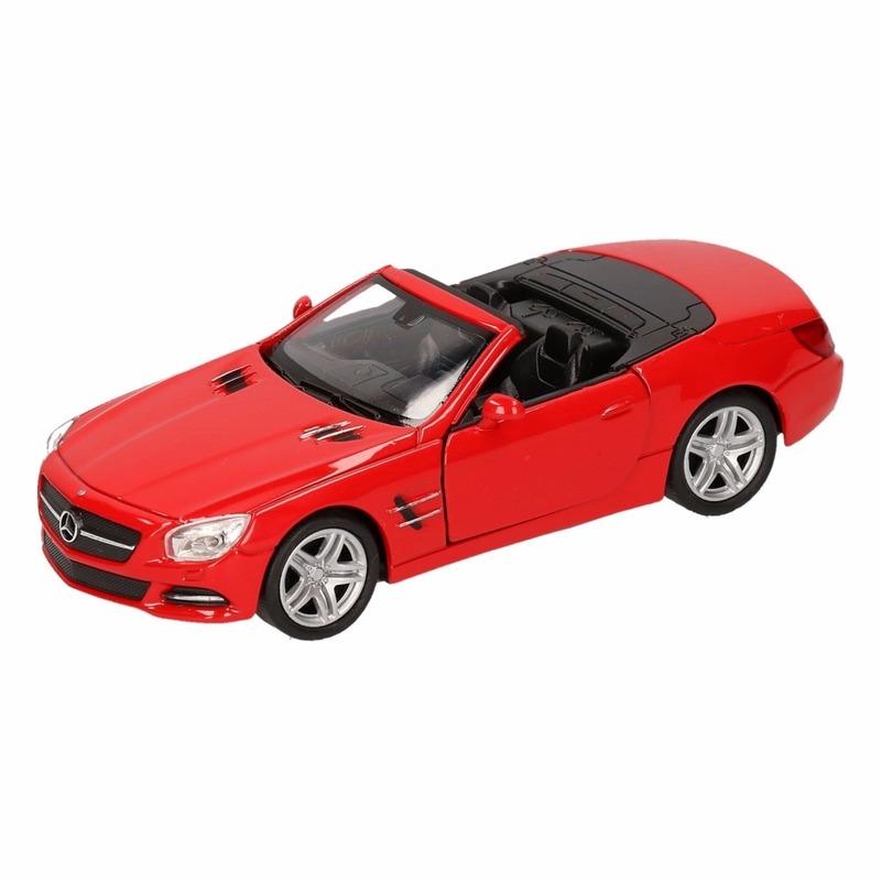 Speelgoedvoertuigen Mercedes Speelgoed rode Mercedes Benz SL500 12 open cabrio 1 36