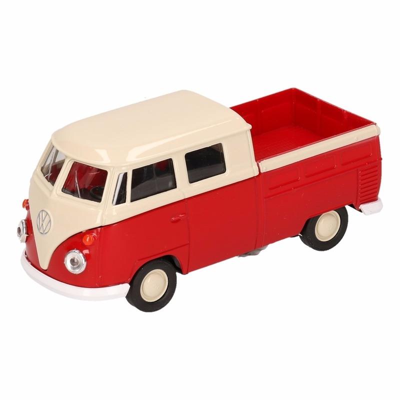 Volkswagen Speelgoed rode Volkswagen T1 pick up auto 1 36 Speelgoedvoertuigen