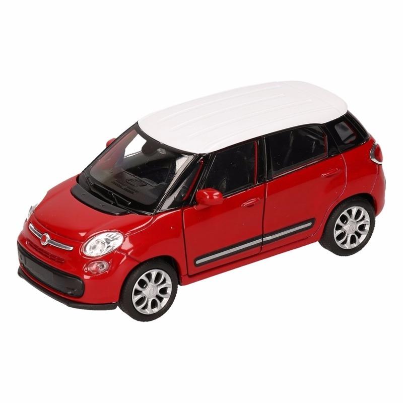 Speelgoedvoertuigen Fiat Speelgoed rood witte Fiat 500 L auto 11,5 cm