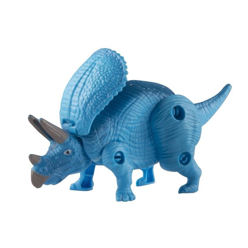 Speelfiguren sets Speelgoed Triceratops blauwe dinosaurus 12 cm