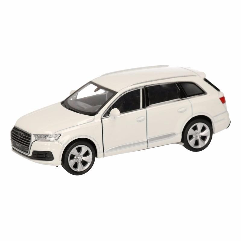 Audi Speelgoed witte Audi Q7 auto 12 cm Speelgoedvoertuigen