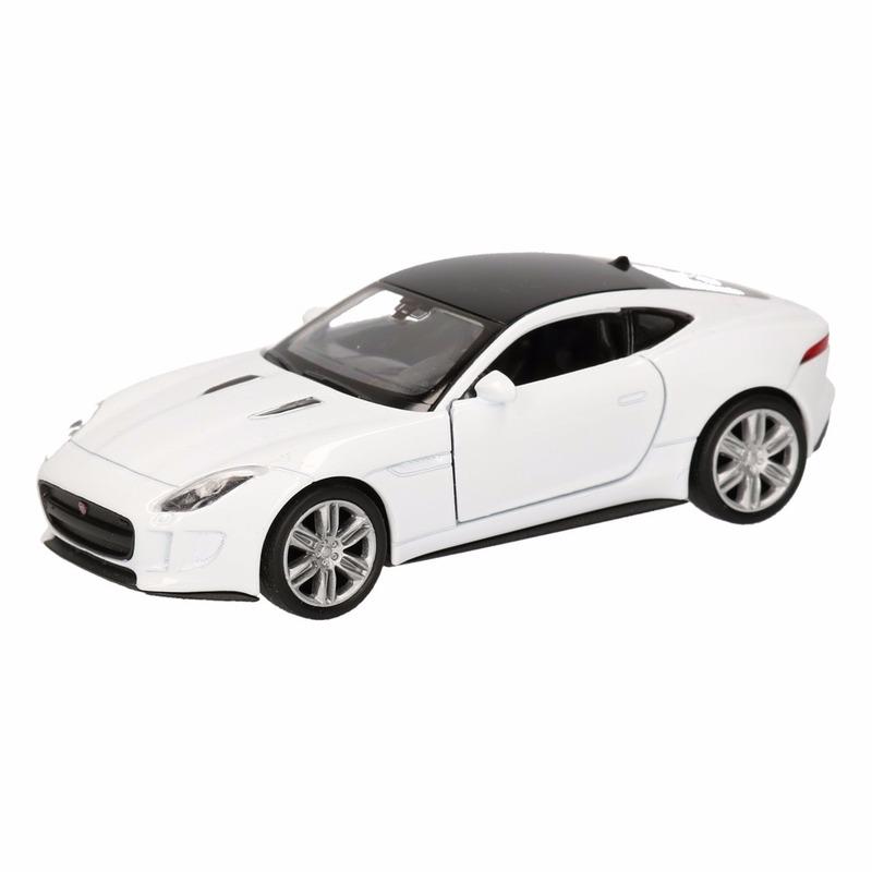 Jaguar Speelgoed witte Jaguar F Type coupe speelauto 12 cm Speelgoedvoertuigen