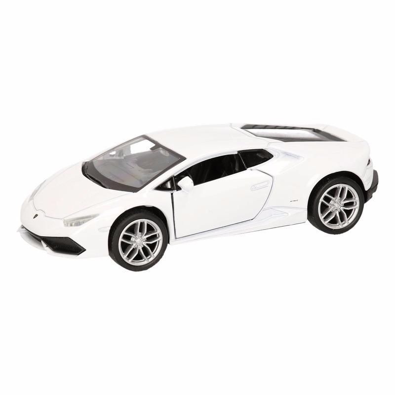 Speelgoed witte Lamborghini Huracan LP610 4 auto 12 cm Lamborghini Speelgoedvoertuigen