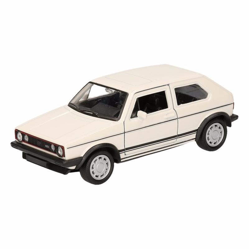 Speelgoedvoertuigen Volkswagen Speelgoed witte Volkswagen Golf I GTI speelauto 12 cm