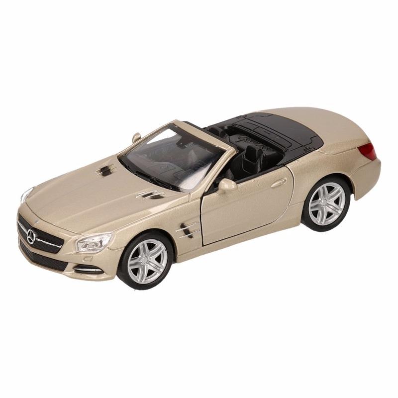 Speelgoedvoertuigen Mercedes Speelgoed zilveren Mercedes SL500 12 open cabrio 1 36