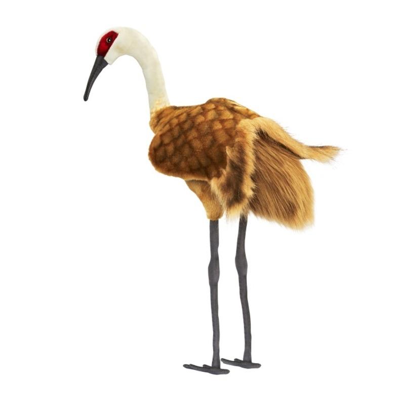 Staande kraanvogel knuffel 75 cm