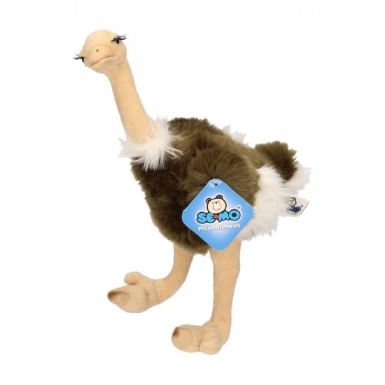 Staande pluche struisvogel knuffels 30 cm