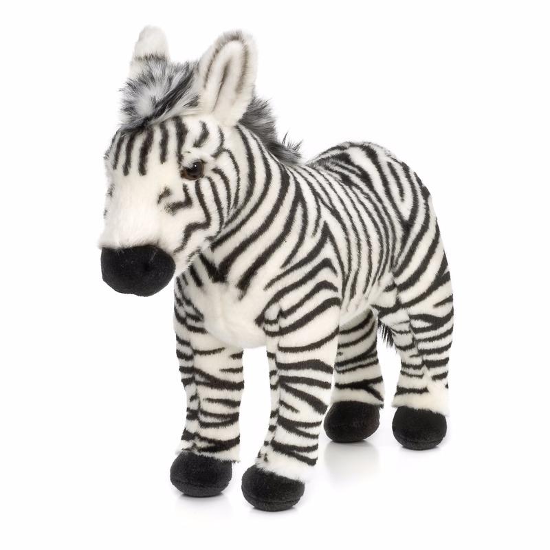 Staande zebra knuffeldier 23 cm