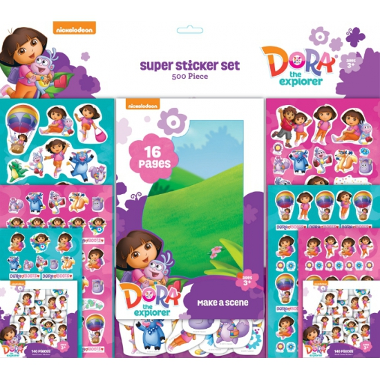Super Sticker Set 500 Dora Stickers