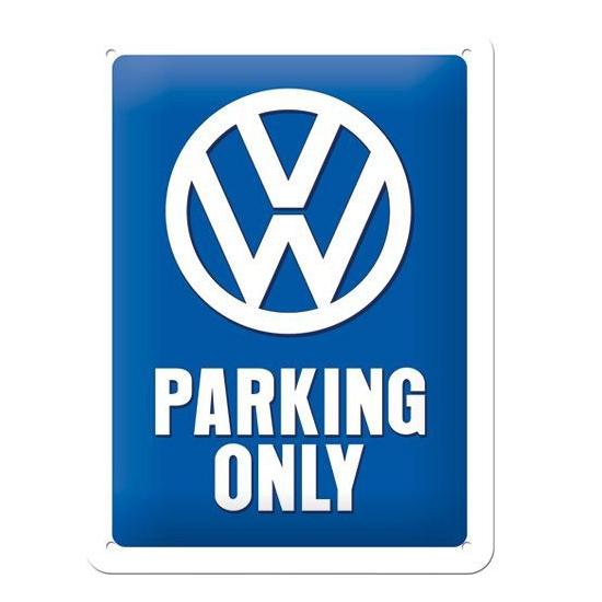 Feestartikelen diversen Geen Tinnen plaatje VW parking 15 x 20 cm