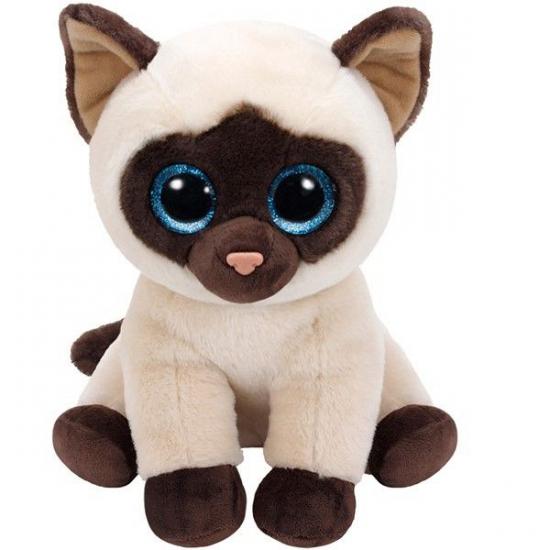Ty Beanie knuffel Siamese kat 26 cm