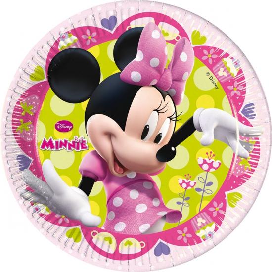 Verjaardagsbordjes Minnie Mouse 8 Stuks