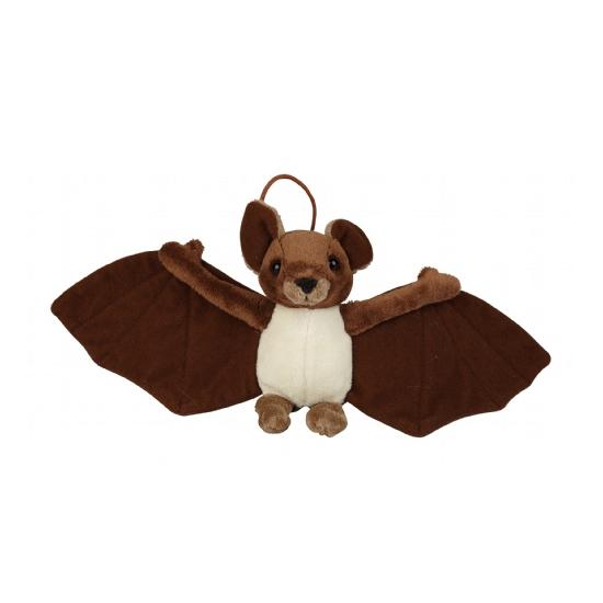 Vleermuis knuffel bruin 31 cm
