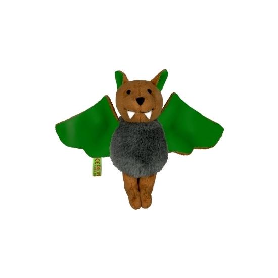Vleermuis knuffeltje groen 14 cm