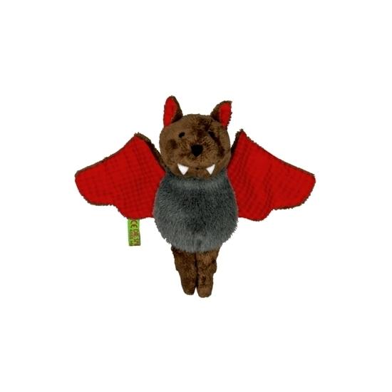 Vleermuis knuffeltje rood 14 cm