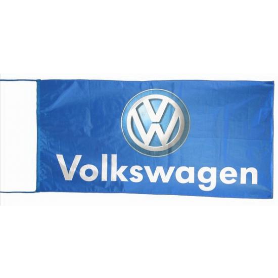 Volkswagen Volkswagen vlag blauw 150 x 75 cm Feestartikelen diversen