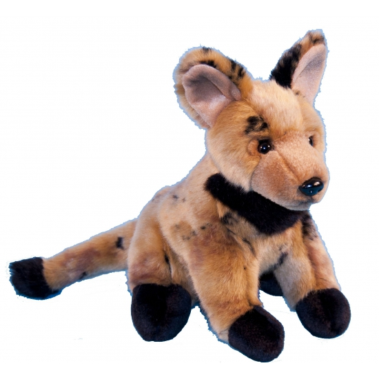 Wilde hond knuffel hyena 21 cm