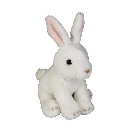 Wit pluche konijn 15 cm
