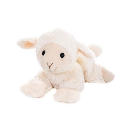 Wit schaap knuffel kruik geboorteknuffel