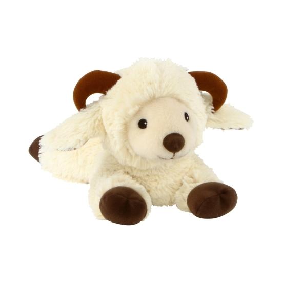 Wit schaap ram knuffel kruik geboorteknuffel