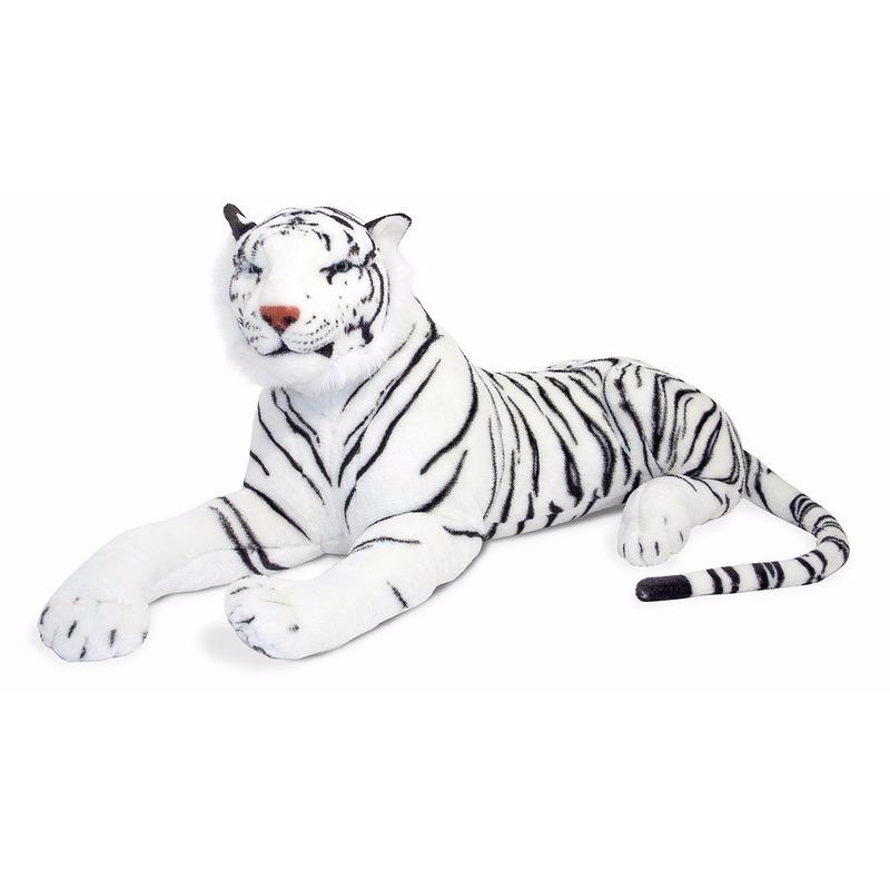 Witte tijger liggend 100 cm