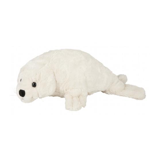 Witte zeehond knuffel met kraalogen 40 cm