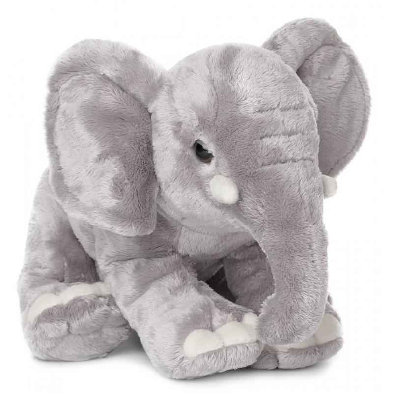 WNF knuffel olifant met slurf omlaag 30 cm