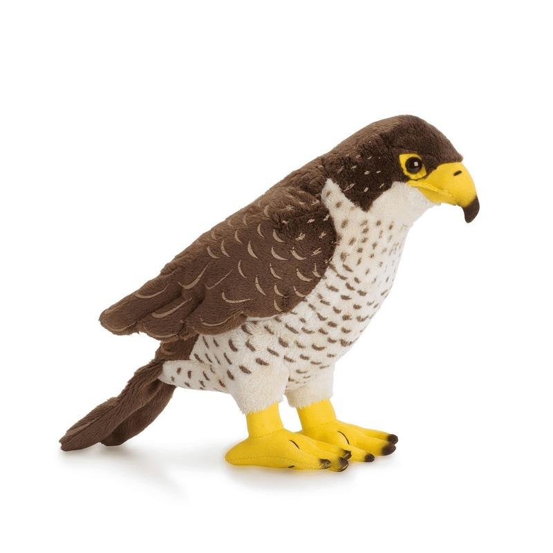 WNF pluche slechtvalk vogel knuffel 23 cm speelgoed