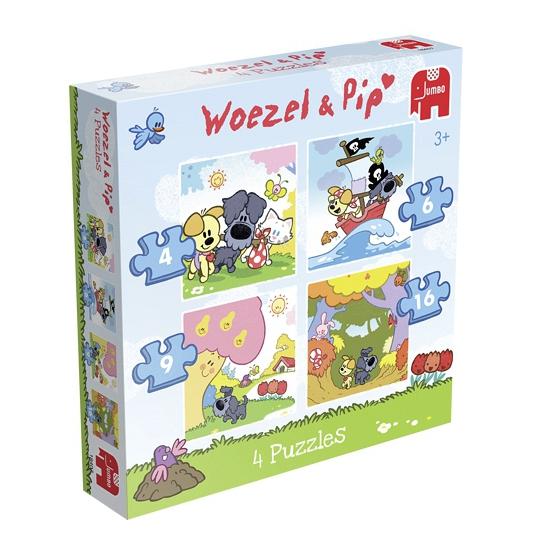 Woezel En Pip Puzzelsets 4 In 1