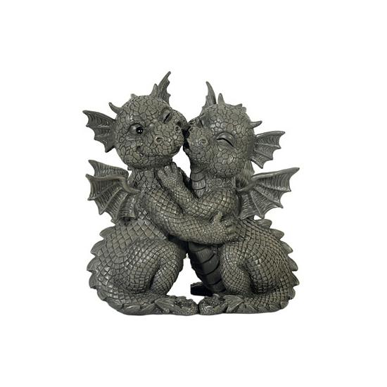 Woondecoratie draken beeldje 26 cm