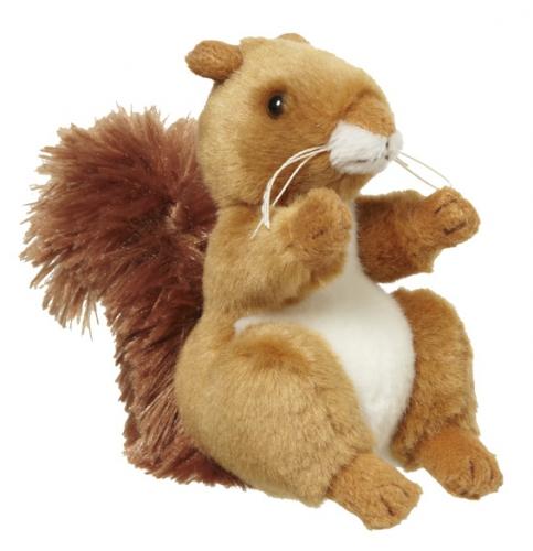 Zachte eekhoorn knuffel 11 cm
