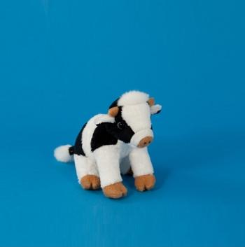 Zittende koeien knuffels 15 cm