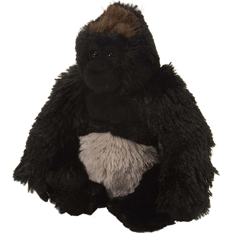 Zwart gorilla knuffel pluche 20 cm