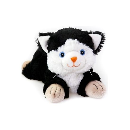 Zwarte katten knuffel kruik geboorteknuffel 18 cm