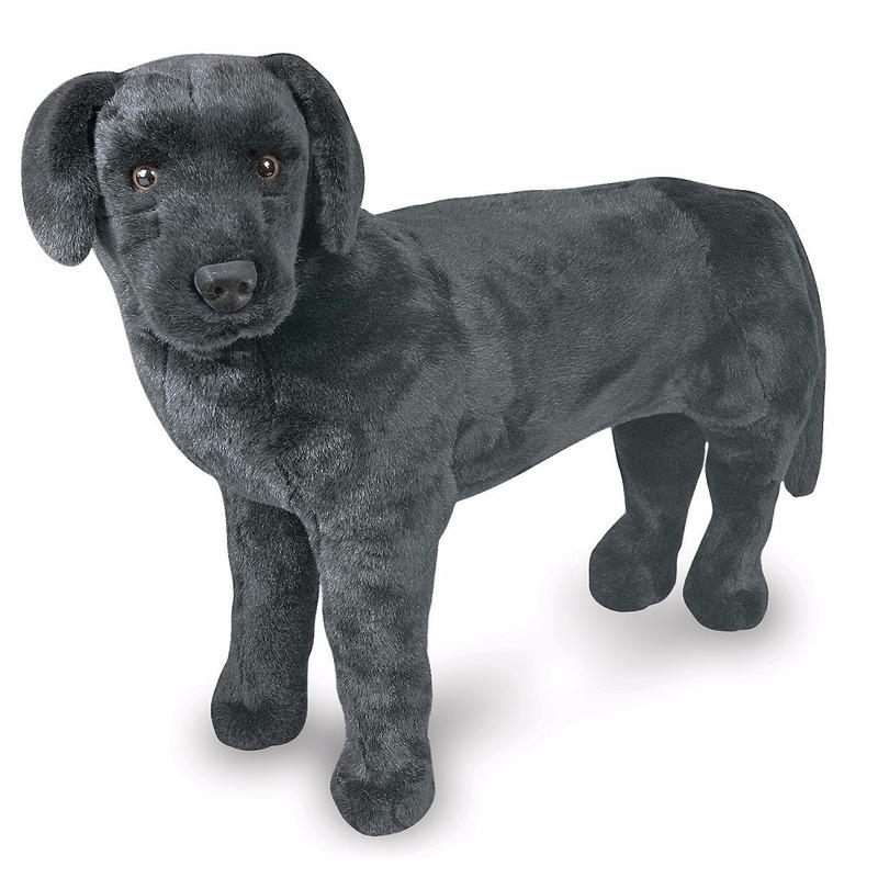 Zwarte labrador hond knuffel 79 cm